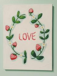 Love. Acrylic. 9x12