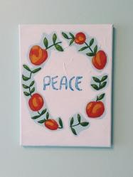 Peace. Acrylic. 9x12