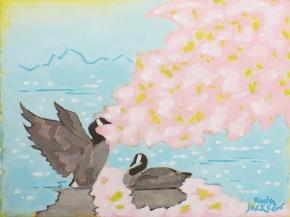 Canadian Spring. Acrylic. 9x12