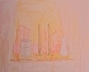Lace Window. Mixed Media. 24x36