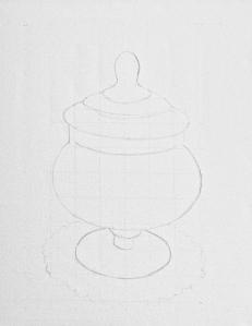 Apothecary Jar. Mixed Media. 16x20