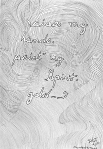 """Raise My Hands"" Mumford and Sons Lyric Sketch"