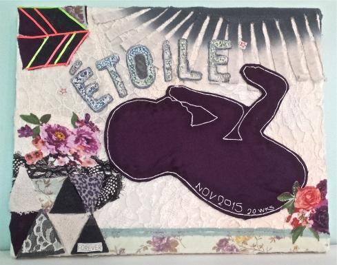 Étoile. Textile Collage. 16x20