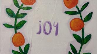 Joy-closeup. Acrylic. 9x12