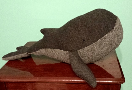 Hand Stitched Whale