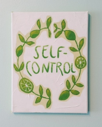 Self Control. Acrylic. 9x12