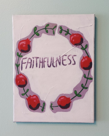 Faithfulness. Acrylic. 9x12
